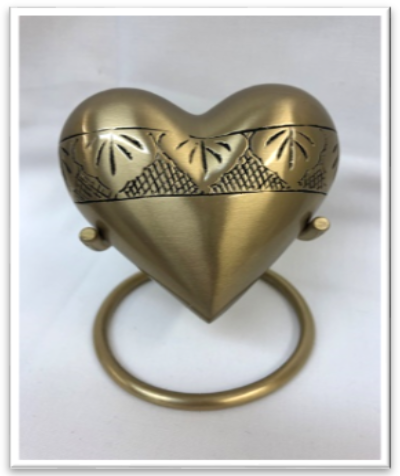 Gold Heart with Stand