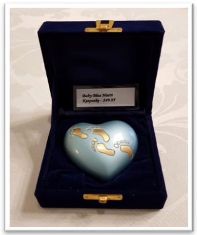 Stardust Baby hearts Keepsakes blue